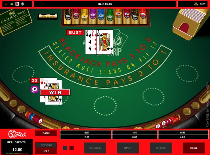 32red blackjack online