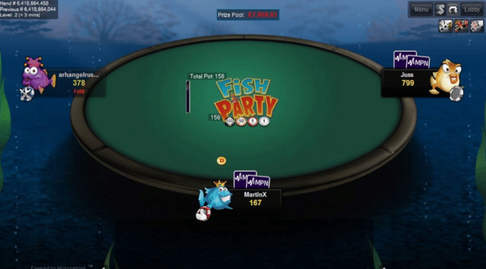 microgaming fish party poker