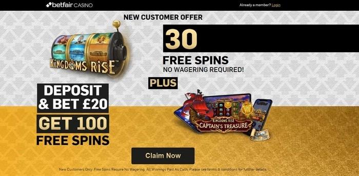 betfair casino new customer offer