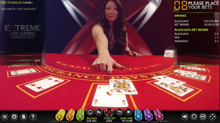 novomatic live blackjack