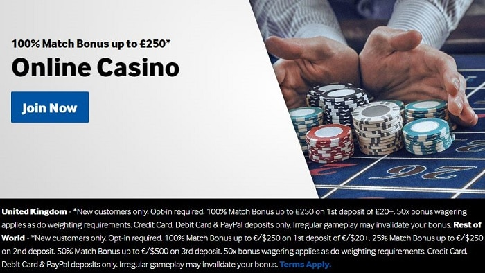 Betway Casino Welcome Bonus Package