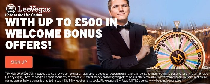 LeoVegas Live Casino Welcome Bonus