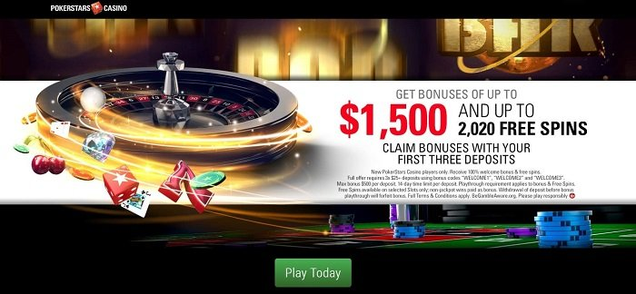 Pokerstars Casino Welcome Bonus