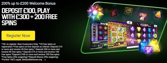 Unibet Casino Welcome Bonus