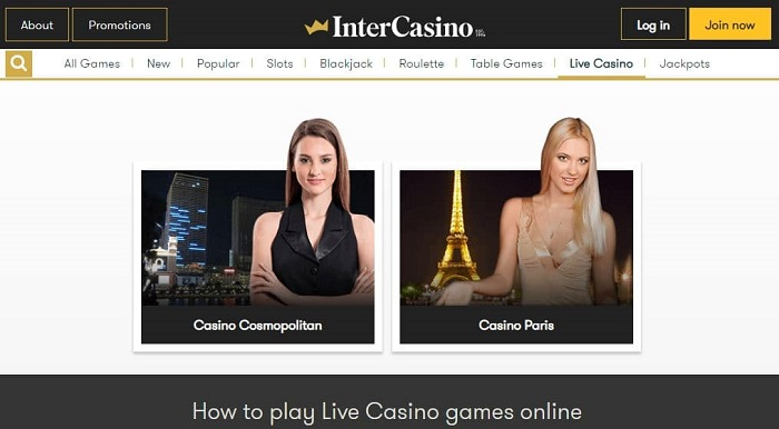 InterCasino Live Casino