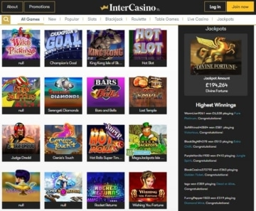 InterCasino Screenshot