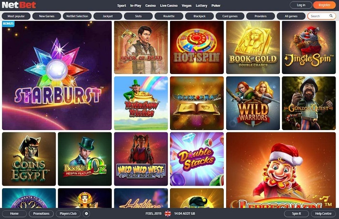 NetBet Casino Screenshot Games