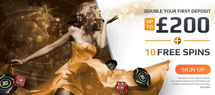 NetBet Casino Welcome Bonus