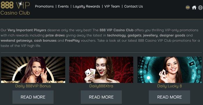 888Casino VIP Club