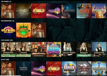Kaboo Casino Games Screenshot