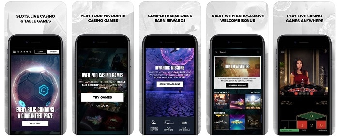 Kaboo Casino Mobile & Apps