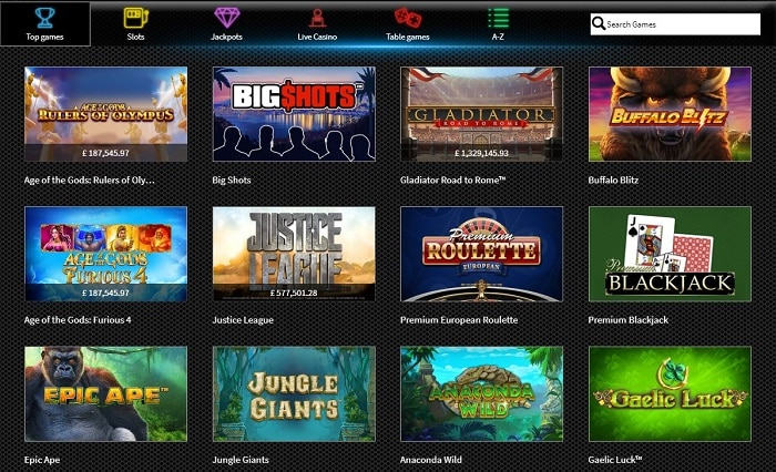 Slots Heaven Casino Screenshot & Games