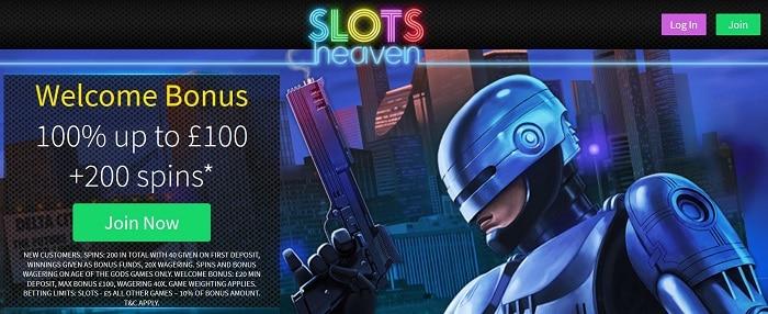 Slots Heaven Casino Table Game Welcome Bonus