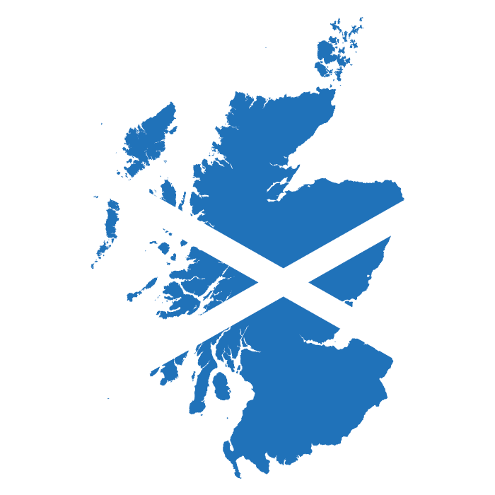 Flag Map of Scotland