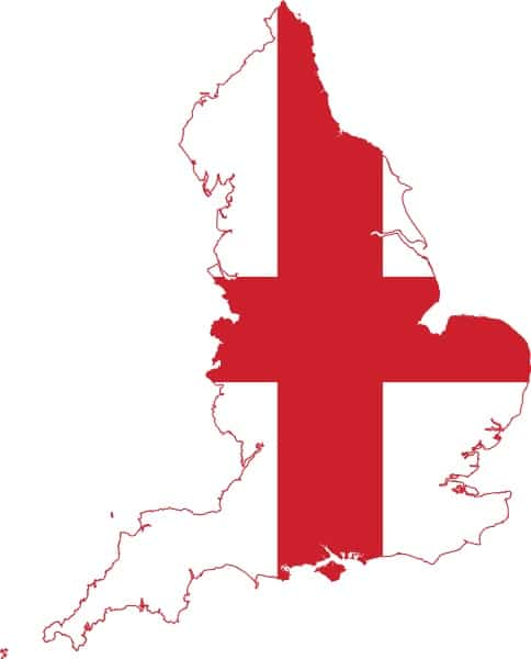 Flag & Map of England