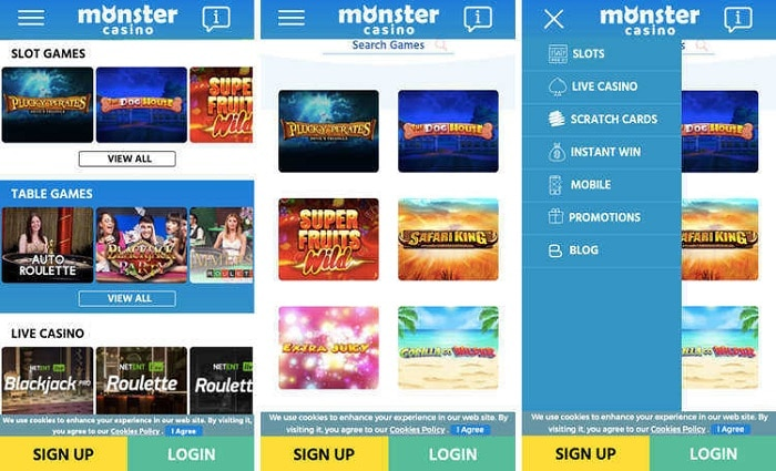 Mobile Casino at Monster Casino