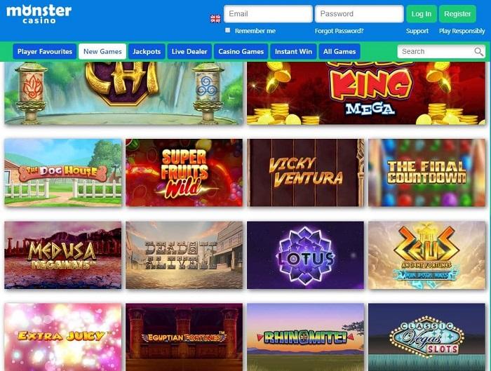 monster casino screenshot games