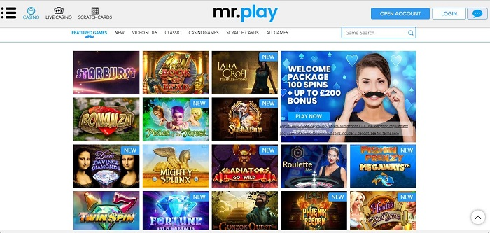 Mr Play Casino Screenshot Games
