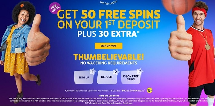 PlayOJO Casino Welcome Bonus