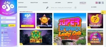PlayOjo Casino Screenshot Games