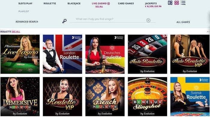 PlayOJO Live Casino