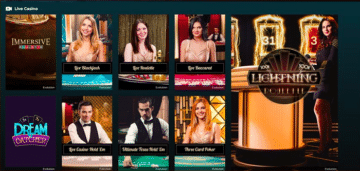 Live Casino at Rolla Casino