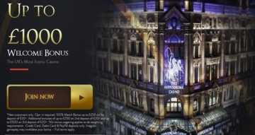 The Hippodrome Online Casino Welcome Bonus
