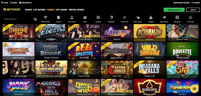 bethard casino screenshot games