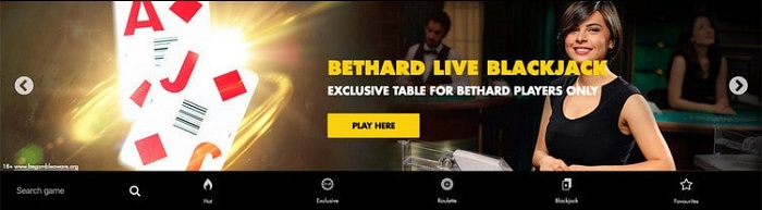 Live Casino at Bethard