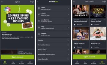 lll▷ Trusted ComeOn Casino Review | 20 FS + £25 Bonus | 2019