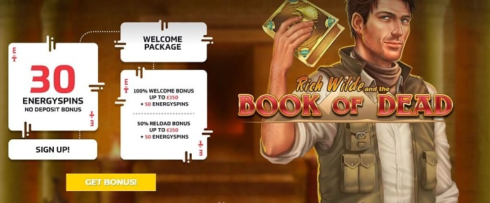 EnergyCasino UK Welcome Bonus