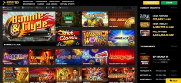 EnergyCasino Screenshot & Games