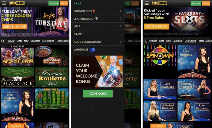 Eurogrand Mobile Casino