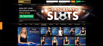 Live Casino Games at Eurogrand Casino