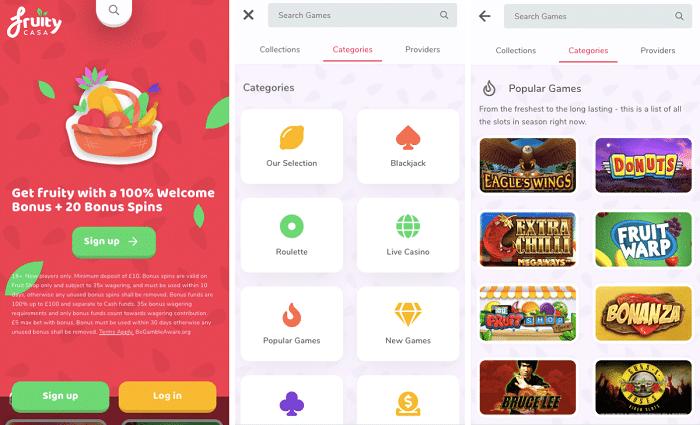 Fruity Casa Mobile Casino