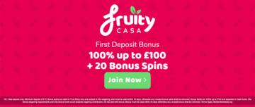 Fruity Casa Casino Welcome Bonus