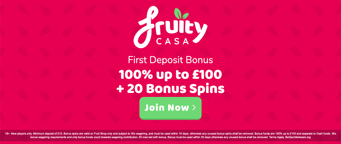 Fruity Casa Casino Welcome Bonus