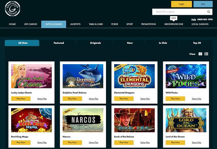 Grosvenor Casinos Games Screenshot
