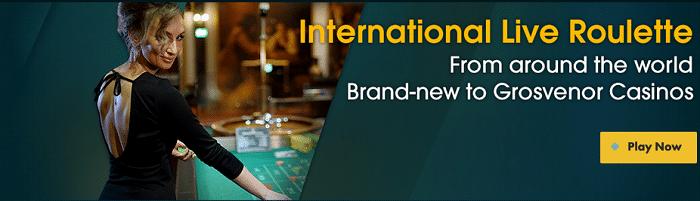 Grosvenor Casinos Welcome Bonus