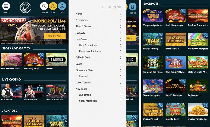 Grosvenor Casinos Mobile App