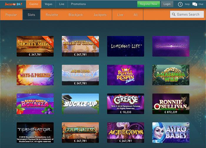 jackpot247 casino games