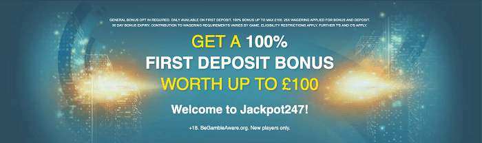 Jackpot247 Casino Welcome Bonus