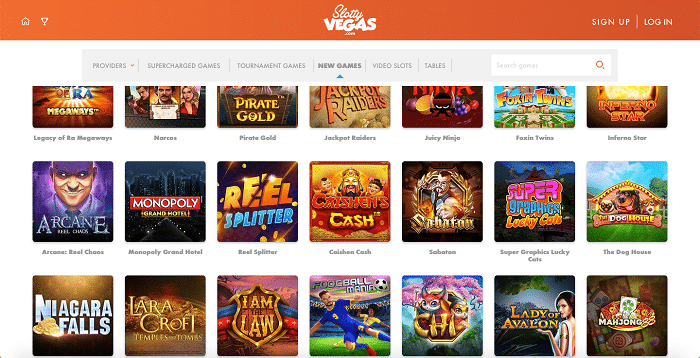Games at Slotty Vegas Casino