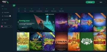 Volt Casino Games Screenshot