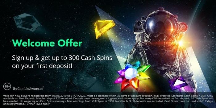 Volt Casino Welcome Bonus