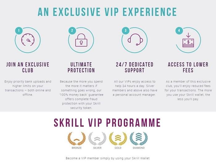 Skrill Casino VIP Program