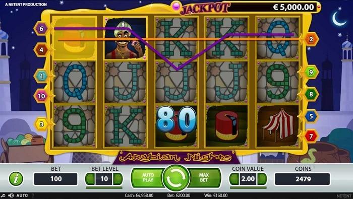 arabian nights slot screenshot