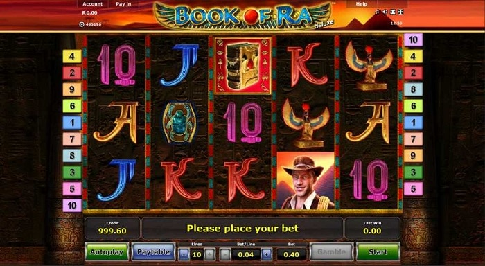 book of ra slot deluxe screenshot