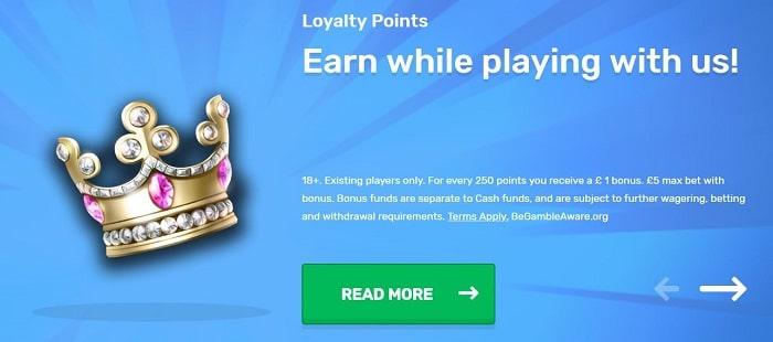 Casilando Casino Loyalty Points
