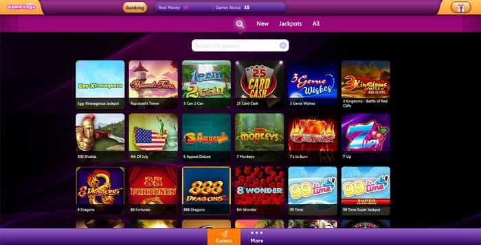 Deluxino Casino Games